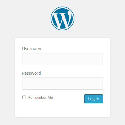 WordPress Login Formular