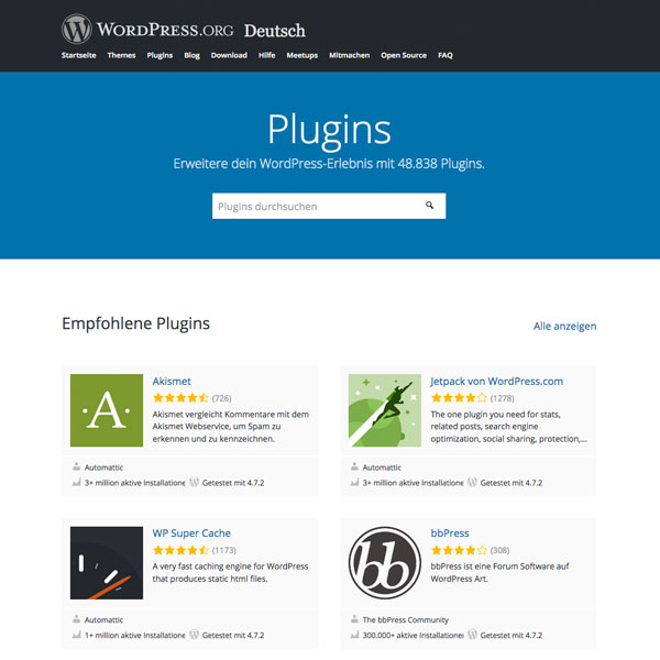 50.000 WordPress PlugIns